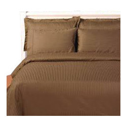 SCALA - 1000Tc Stripe King Size Taupe Color Sheet Set - We offer supreme quality Egyptian Cotton bed linens with exclusive Italian Finishing. These soft, smooth and silky high quality and durable bed linens come to you at a very low price as these come directly from the manufacturer. We offer Italian finish on Egyptian cotton, which makes this product truly exclusive, and owner's pride. It's an experience and without it you are truly missing the luxury and comfort!!