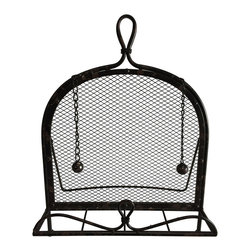 Cheung's Rattan Imports - Metal Cookbook Holder - This rustic holder will keep those ancient family recipes always on hand in the kitchen.   12.75'' W x 16'' H x 3.5'' D Metal Imported