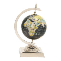 Captivating Aluminum PVC World Globe - Description: