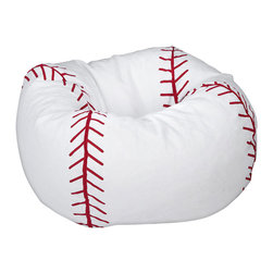 Ace Bayou - Ace Bayou Baseball Matte Bean Bag - Durable vinyl fabric and double stitched seams for durablility , Matte finish, Ergonomic seating position, Great for reading, playing video games, watching TV, relaxing.