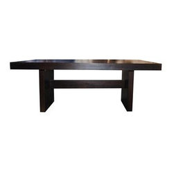 CONTEMPORARY SOLID WOOD CUBE DINING TABLE - CONTEMPORARY SOLID WOOD CUBE DINING TABLE