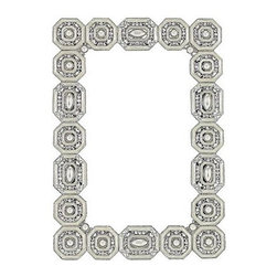 """Olivia Riegel """"Medallion"""" Frame - Picture frames are by far my favorite gift to give at any time of the year, but especially at the holidays. Always consider the person's personality and the style of their home, and you will be sure to find a piece they will love. This jeweled medallion frame is for that high-class girl that loves the glitz and glamour!"""