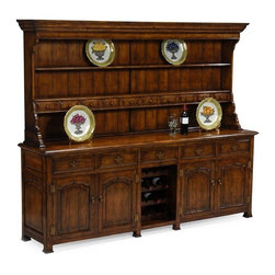Jonathan Charles - New Jonathan Charles Hutch and Buffet Walnut - Product Details