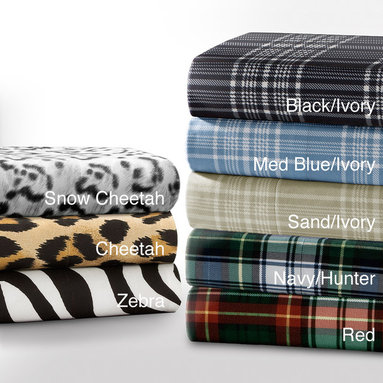 None - Premier Comfort Cozy Spun All Seasons Printed Sheet Set - A great alternative to flannel,these polyester printed sheet sets will keep you comfortable all year. Their lightweight fabric is more durable than other sheets,and you will love how the animal print or plaid patterns give your bed a designer flair.