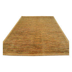 1800GetARug - Peshawar Gabbeh Oriental Rug Hand Knotted Rug Striped Sh12038 - About Modern & Contemporary