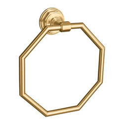 KOHLER - KOHLER K-13112-BV Pinstripe Towel Ring - KOHLER K-13112-BV Pinstripe Towel Ring in Brushed Bronze