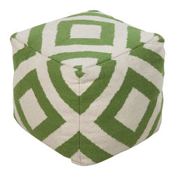 "Surya - Surya Pouf Birch 18"" x 18"" x 18"" Accent Furniture Pouf - This square pouf has a distinctive and stylish pattern that is soon to be a conversation piece. Made in India with one hundred percent wool, this pouf is durable and priced right. With a fun and fresh pattern, these poufs make a simple, yet sophisticated statement in any room. Poof Measurements are: 18"" x 18"" x 18"", Poof is made of: 100% Wool, Color is: Ivory"