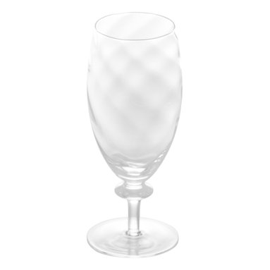 Abigails - Romanza Optic Water Goblet, Set of 4 - A smart looking optic water or beverage glass resting on a slender base.  Perfect when an elegant yet sturdy glass is needed for most any occasion.