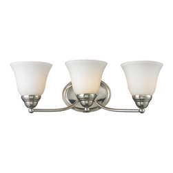 Z-Lite - Z-Lite Athena Bathroom Light X-V3-8012 - Clean elegant lines and simple detailing partnered with a matte opal shade and a chrome finish bring a classic touch to this three light vanity lamp.