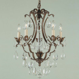 Murray Feiss Maison de Ville Collection Chandelier - Anything miniature is automatically cute, and this is particularly true of this miniature chandelier. It's perfectly French, incredibly elegant, and would work very well in a small apartment's living room.