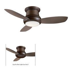 Minka Aire - Minka Aire Concept II 44 Ceiling Fan in Oil Rubbed Bronze - Minka Aire Concept II 44 Model F518-ORB in Oil Rubbed Bronze with Taupe Finished Blades. Included Single Light Fixture for Concept II.