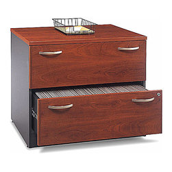 Bush Business Furniture - Veneer Lateral File in Hansen Cherry - Series - Get the finest in file ...