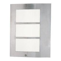 Eglo - Eglo 88139 City Single-Bulb Outdoor Sconce - City Single-Bulb Outdoor SconceAs the name suggests, the City collection brings to life the modern aesthetic of urban life. The sleek metallic framing and soft light of this family is sure not to disappoint.Product Features: