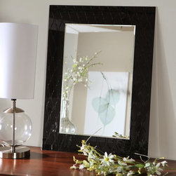 Decor Wonderland - Sunlight Modern Wall Mirror - 23.6W x 31.5H in. Multicolor - SSM480 - Shop for Bathroom Mirrors from Hayneedle.com! An exquisite addition to your home this Sunlight Modern Mirror is beautifully designed and crafted. The grooved design on black glass around the edge forms a frame around the mirror that is truly unique. Finely constructed with strong 3/16 glass and metal and with a durable double coated silver backing with seamed edges. Arriving ready to hang the mounting hardware is included for your convenience.Decor Wonderland of USDecor Wonderland US sells a variety of living room and bedroom furniture mirrors lamps home office necessities and decorative accessories. Decor Wonderland strives to add variety to their selection so that every home is beautifully and perfectly decorated to suit their customer's unique tastes.