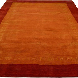 1800GetARug - Hand Knotted Rug Orange Lori Buft Gabbeh Sh12222 - About Modern & Contemporary