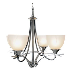Premier - Four Light Durango 24.75 inch Chandelier - Brushed Nickel - Premier 617577 24-3/4in. W by 22-3/4in. H Durango Lighting Collection Chandelier, Brushed Nickel.