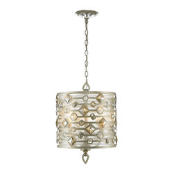 Golden Lighting - Golden Lighting Coronada 3 Light Chandelier - Transitional style combines traditional silhouettes and materials with organic and geometric shapes. Decorative motif of large, faceted crystals. White Gold finish. Soft light cast by the exposed candles. Provides a glowing presence in dining and entry areas. Artfully brings light to kitchen or task areas. . .  Chain Length: 6 foot. Wire Length: 10 foot.
