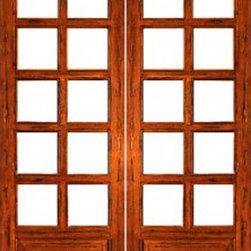 """Rustic-10-lite-P/B Interior Solid 1 Panel IG Glass Double Door - SKU#Rustic-10-lite-P/B-2BrandAAWDoor TypeInteriorManufacturer CollectionInterior French DoorsDoor ModelDoor MaterialWoodWoodgrainTropical HardwoodVeneerPrice820Door Size Options2(14"""") x 96"""" (2'-4"""" x 8'-0"""")  $02(18"""") x 96"""" (3'-0"""" x 8'-0"""")  $02(24"""") x 96"""" (4'-0"""" x 8'-0"""")  +$2602(30"""") x 96"""" (5'-0"""" x 8'-0"""")  +$2802(32"""") x 96"""" (5'-4"""" x 8'-0"""")  +$2802(36"""") x 96"""" (6'-0"""" x 8'-0"""")  +$280Core TypeSolidDoor StyleDoor Lite Style3/4 Lite , 10 LiteDoor Panel Style1 PanelHome Style MatchingMediterranean , LogDoor ConstructionEngineered Stiles and RailsPrehanging OptionsPrehung , SlabPrehung ConfigurationDouble DoorDoor Thickness (Inches)1.75Glass Thickness (Inches)1/2Glass TypeDouble GlazedGlass CamingGlass FeaturesInsulated , Tempered , low-E , Beveled , DualGlass StyleClear , White LaminatedGlass TextureClear , White LaminatedGlass ObscurityNo Obscurity , High ObscurityDoor FeaturesDoor ApprovalsFSCDoor FinishesDoor AccessoriesWeight (lbs)680Crating Size25"""" (w)x 108"""" (l)x 52"""" (h)Lead TimeSlab Doors: 7 daysPrehung:14 daysPrefinished, PreHung:21 daysWarranty1 Year Limited Manufacturer WarrantyHere you can download warranty PDF document."""