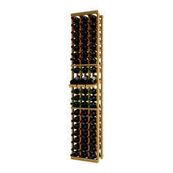 Wine Cellar Innovations - Traditional Series 60 Individual Bottle Rack w/display - The Redwood & Pine 3 Column Individual Bottle wine rack with Display Row is 20 rows high and stores 60 wine bottles with 3 bottles on top. Assembly required.