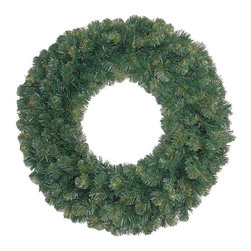 """Seasonal Source - 24"""" Unlit Oregon Fir Wreath - Our 24"""" diameter commercial quality holiday wreath is full and luxurious."""