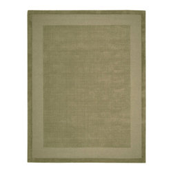 "Nourison - Nourison Westport WP20 8' x 10'6"" Sage Area Rug 72420 - Delicate textural contrasts bring subtlety to life in this modern classic rug design. A double border of darker and lighter shaded sage-green tones frame a texturally toned center panel. This perfect expression of elegant simplicity makes your good taste the centerpiece of the room."