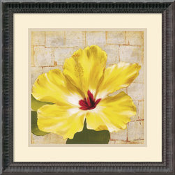 Amanti Art - Fabric Floral One Framed Print by Dysart - With nature-inspired imagery in rich, colorful hues, this fine art print will infuse your home with an earthy beauty. An excellent wall art accent for the lover of art with flowers.