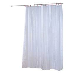 Polyester Shower Curtain Vertical Bands White - This shower curtain for bathrooms is in polyester, tissue effect. It is opaque with vertical stripes and is equipped with 12 strengthened eyelets for hanging (12 shower rings needed, sold separately). Water-repellent and machine washable, it will fit perfectly in your shower or bathtub. Prior to hanging, immerse curtain in a bath of warm water to help remove creases. Cleaning with soapy water only. Width 71-Inch and height 79-Inch. Color white and off-white. This shower curtain is perfect to add a decorative touch in your bathroom! Complete your decoration with other products of the same collection. Imported.