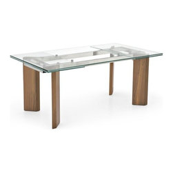 Calligaris - Calligaris | Quick Ship: Tower Wood Extension Table - Design by S.T.C.