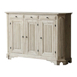 Marco Polo Imports - Dubois Sideboard - Elegant sideboard inspired by Authentic European antiques and reproduced by seasoned artisans to capture the look of Old World craftsmanship. Every delicious detail - carving or ironwork to painting or patina - is done by hand.