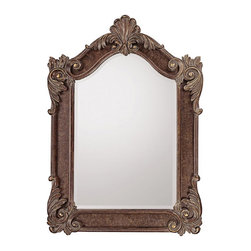 Capital Lighting - Capital Lighting Traditional Mirror X-244263M - Dark spice, silver and gold highlights, beveled mirror.