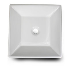 "Nantucket Sinks - Nantucket Sink NSV109 Ceramic Lavatory Sink - Nantucket Sinks NSV109 is a white Vitreous China Vessel Sink (No Overflow). To be installed on top of the counter.  No Faucet Drilling.This sink has a 1.75"" drain diameter."