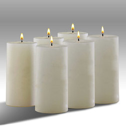 """Frontgate - Outdoor Set of Six Conceal 6""""H Mosquito Repellant Candles - During field trials in Florida swamps, people experienced 75% fewer insect landings. Candles are clean-scented. Contains linalool — a safe, natural substance that disorients mosquitoes and inhibits the receptors they use to find prey. Place one candle every 12 ft.. Neutral ivory color. Our Conceal Mosquito-repellent Candles inhibit the odor receptors mosquitoes use to find prey without offending human odor receptors.During field trials in Florida swamps, people experienced 75% fewer insect landings. . . . . 6"""" candles are sold separately or in a set of six; 8"""" candles are sold separately. When paired with our mosquito-attracting trap, candles help to create a push-pull effect and a more complete defense against disease-carrying insects."""