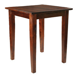 "Four Hands - Provence Pub Table 36"" - This is the kind of pub table around which you sip, chug, nosh, catch up, talk politics, flirt, love and scold. In short, it's a life table made ever more livable by the simple farmhouse lines and warm, rustic finish."
