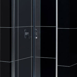 DreamLine - DreamLine SHDR-4532726-01 Butterfly 30 to 31 1/2in Frameless Bi-Fold Shower Door - The Butterfly collection of shower doors offers a beautiful frameless design paired with a space saving bi-fold action. The collection includes two models. One is perfect for a standard size shower space, while the other provides a great solution for a small bathroom renovation. The smart bi-fold action allows the panels to slide and fold creating an ample walk-in opening to maximize space. Wall profiles provide a flexible installation with adjustability for width and out-of-plumb walls. 30 - 31 1/2 in. W x 72 in. H ,  1/4 (6 mm) clear tempered glass,  Chrome hardware finish,  Frameless glass design,  Width installation adjustability: 30 - 31 1/2 in.,  Out-of-plumb installation adjustability: Up to 3/4 in. per side,  Space-saving frameless bi-fold door,  Anodized aluminum profiles and guide rails,  Door opening: 20 in.,  Reversible for right or left door opening installation,  Material: Tempered Glass, Aluminum