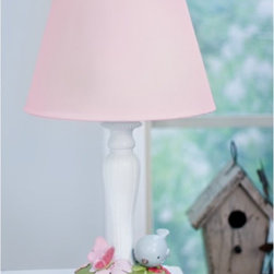 Nurture - Nurture Garden District Lamp Multicolor - 109220 - Shop for Lamps from Hayneedle.com! Add a touch of whimsy to your child's room with the Nurture Garden District Lamp. This adorable polystone lamp features a delicate butterfly alight a flower blossom while a bird and ladybug converse over leaves and flowers. Its pink shade is the perfect complement to the little scene taking place at the base. Measuring approximately 15H inches one energy efficient bulb is included.About Nurture ImaginationBased in California Nurture Imagination creates collaborative relationships with artists designer and product innovators to bring a diverse mix of imaginative products to parents and children. This thoughtfully chosen array of products and features can be seen in their many nursery collections or just in the way they approach the needs of children and the parents who never tire of caring for them.