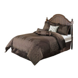 Jasper Down Alternative Comforter Set, Brown, Queen - The Jasper Comforter Set Features; small, little coffee diamond shapes that give the form of a Floral pattern with a brown, chocolate background, the 7 pieces Set includes 1 Comforter, 1 Bed Skirt, 2 Pillow Shams, 1 Neck Roll, 1 Bolster and 1 Embroidered Pattern with an Ivory Back ground Square Pillow.