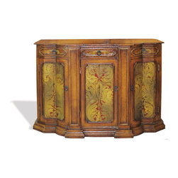 Crackle Buffet, Fresco Brown Crackle with scrolls - Crackle Buffet, Fresco Brown Crackle with scrolls