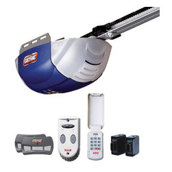 Genie - Genie QuietLift 800 1/2 HP Belt Drive Garage Door Opener Multicolor - 37001U - Shop for Garage Doors Openers and Accessories from Hayneedle.com! The Genie QuietLift 800 1/2 HP Belt Drive Garage Door Opener is an ideal control unit for 7-foot tall sectional or single-piece garage doors (up to 350lbs) capable of lifting or lowering at 7 inches per second. A steel-reinforced belt drive ensures a whisper-quiet function with little maintenance required. Two 3-button remotes are included for access as well as a multi-function wall console and a wireless keypad. Unauthorized access is prevented thanks to the Intellicode rolling-code encryption that changes the access-code after each use. Safe-T-Beam infrared sensors are included to trip the auto-reverse function. About Genie Company Your wish is the Genie Company's command. Each of their products is constructed with a focus on superior design reliability and safety that's so satisfactory you'd swear it's magic. For over 50 years Genie has provided America with automatic residential garage openers quickly becoming an industry leader. In addition to their garage hardware Genie also offers a number of products for the home including vacuums. For homeowners and commercial users alike Genie has a wide array of products that's perfect for you.