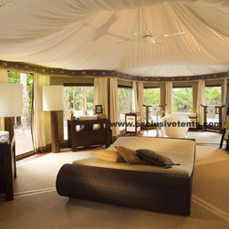 Fish Eagle Exclusive Tent - Just look at this luxury tent! When did camping get so romantic?