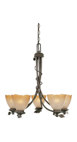 Designers Fountain - Designers Fountain 95685 Five Light Up Lighting Chandelier from the Timberline C - Features: