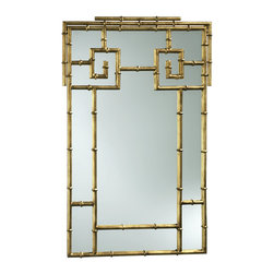 Bamboo Gold Rectangular Mirror - Gold and bamboo make the perfect marriage of sophistication and glamour.