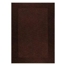 Rug - ~5 ft. x 7 ft. Solid Brown Formal Living Room Area Rug, Hand-Tufted - Living Room Hand-tufted Shaggy Area Rug