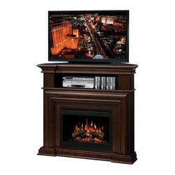 "Dimplex Montgomery Media Electric Fireplace Console - Dimensions: 47"" W x 41.5"" H x 31"" D"
