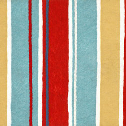 """Trans-Ocean - 20""""x29.5"""" Visions III Sailor Stripe Multi Mat - The highly detailed painterly effect is achieved by Liora Mannes patented Lamontage process which combines hand crafted art with cutting edge technology.The 100% Polyester face, and 100% Recycled Rubber non-skid backing make this suitable for Indoor or Outdoor use and easy to clean.The low profile nature of these Lamontage mats is ideal for use in front of doors or in the kitchen, and the fun designs will bring excitement to any room of the house. Made in USA."""