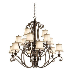 Kichler - Kichler Mithras 15-Light Terrene Bronze Up Chandelier - 43281TRZ - This 15-Light Up Chandelier is part of the Mithras Collection and has a Terrene Bronze Finish.