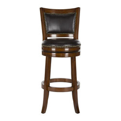 Nailhead trim leather bar stool bar stools counter stools shop for barstools and kitchen - Leather bar stools with nailhead trim ...