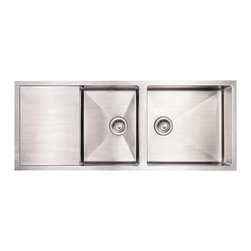 "Whitehaus - Whitehaus Whncmd5221 52"" Lingle Kitchen Sink - Zero radius corners"