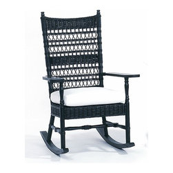 7507 Vineyard's Wicker Rocker - This beautiful wicker rocker looks like it was scored at an estate sale on Nantucket, except it's in new condition. Choose from a variety of colors.