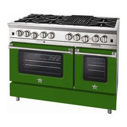 "BlueStar Platinum Series: 48"" Range - 48"" BlueStar Platinum Range in Emerald Green (RAL 6001)"