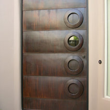 Contemporary Front Doors by Kevin Caron Studios